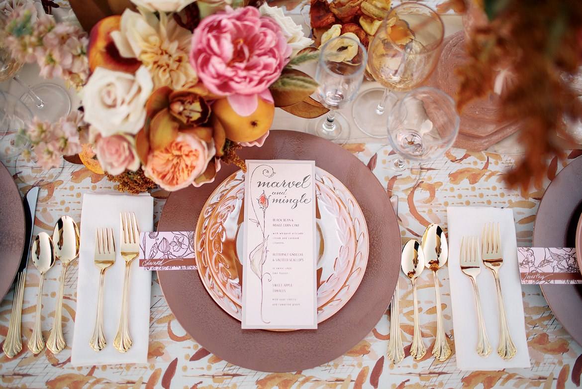 marsala wedding decor