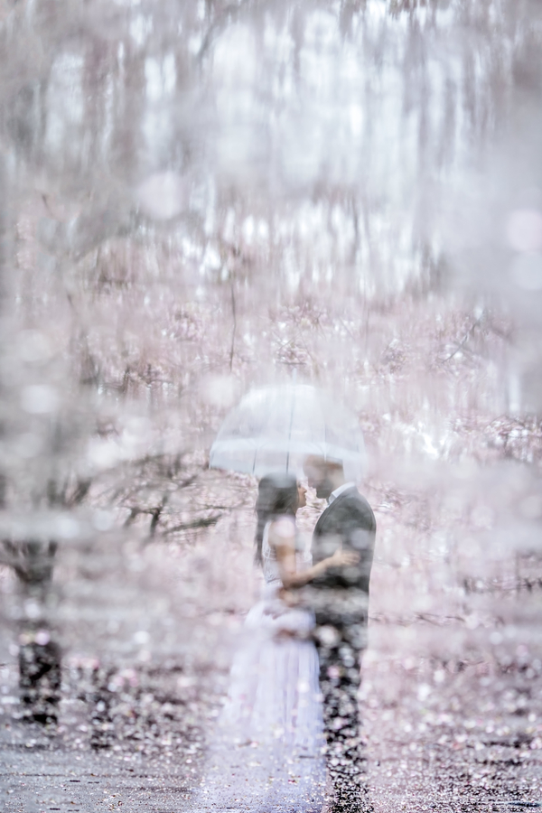double exposure wedding photo