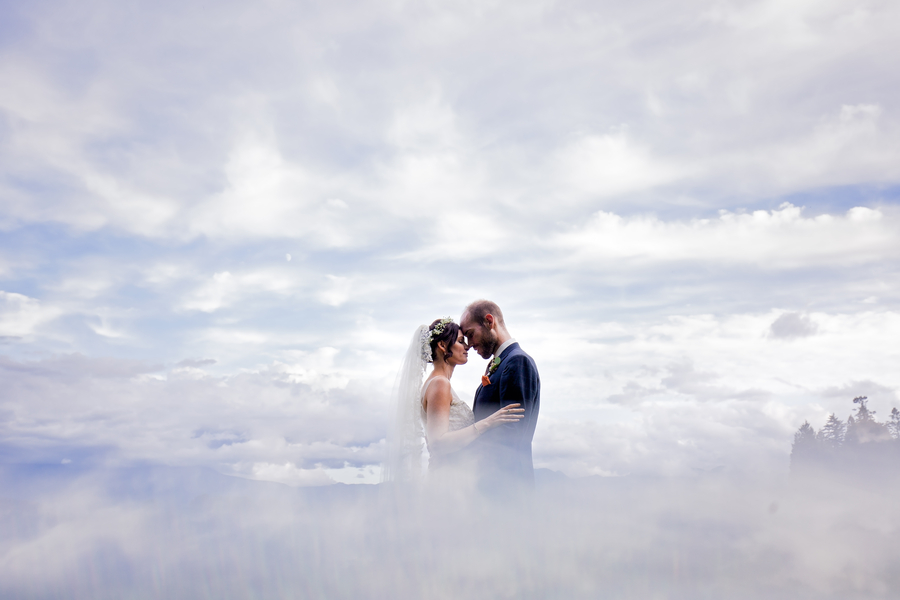 smoke machine wedding photo