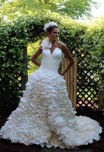 Can You Believe These Wedding Dresses Are Made Of Toilet