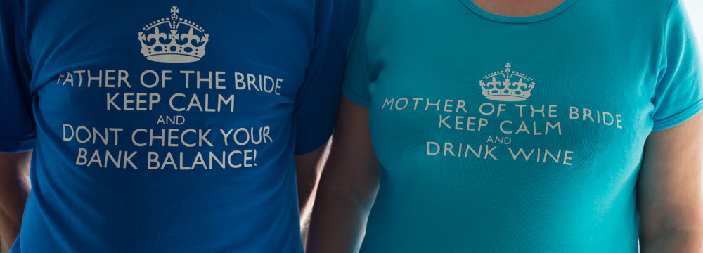 funny mother of the bride and father of the groom shirts