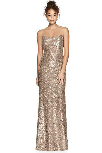 dessy group sequin gown