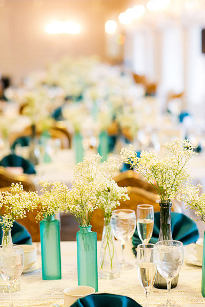 centerpieces babys breath favors vases weddings