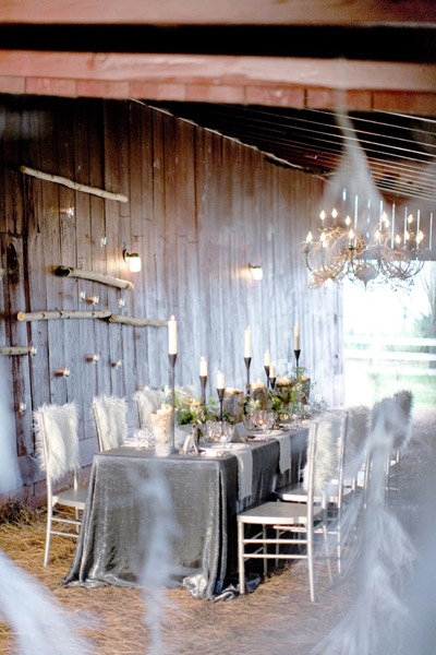 winter sparkle tablecloth wedding glitter