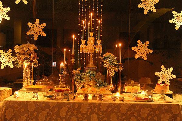 snowflake dessert buffet