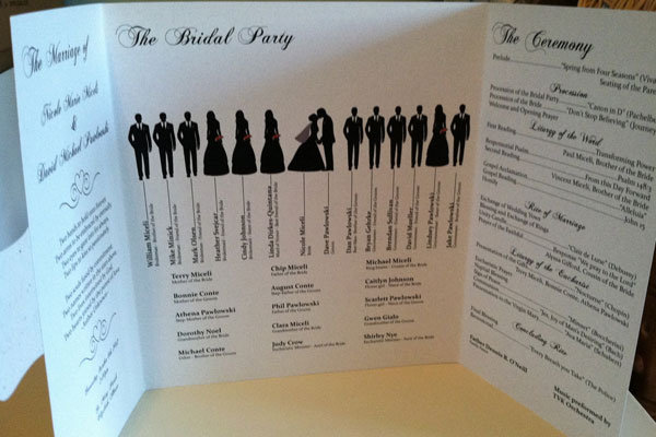15 Creative Wedding Program Ideas