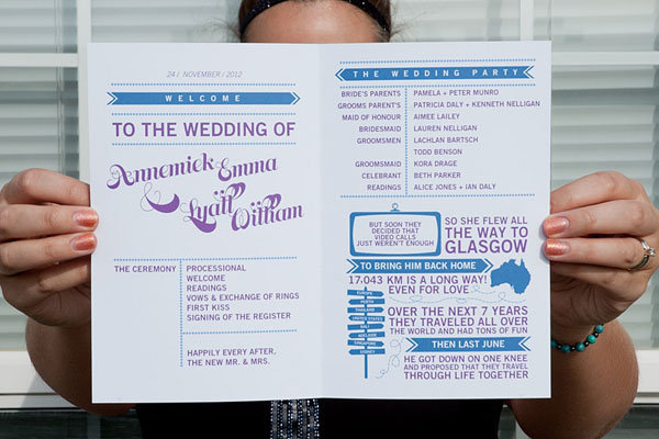 15 creative wedding program ideas bridalguide