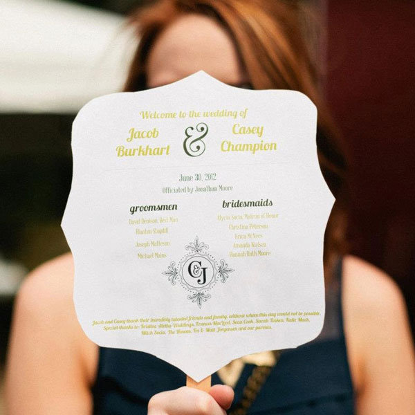 15+ Creative Wedding Program Ideas