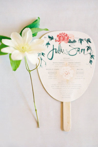julie song wedding program