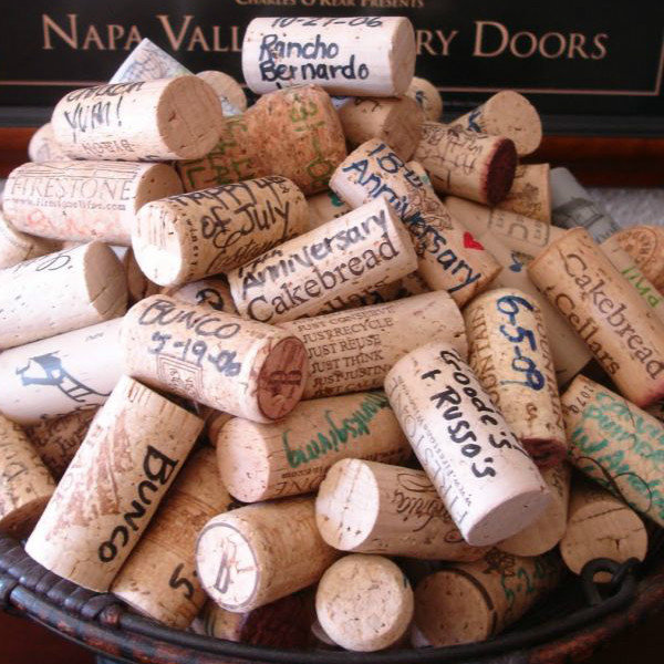 wine cork guest book unique