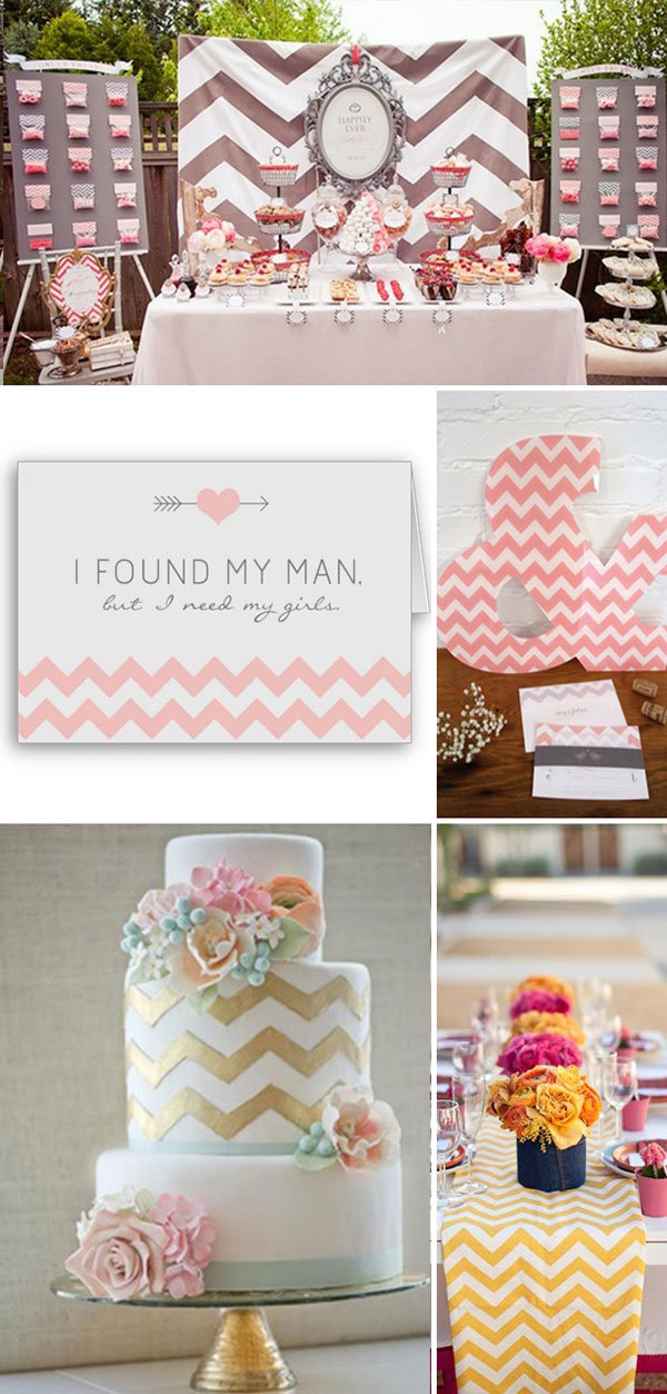 chevron wedding