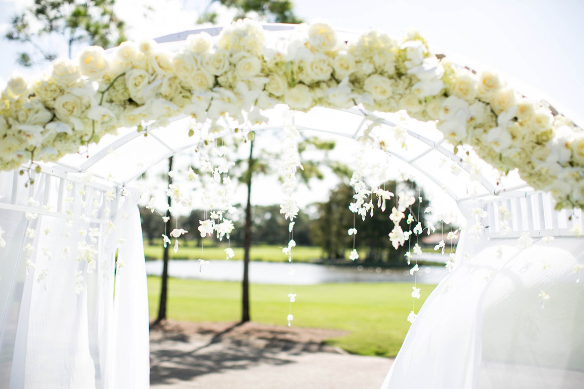 wedding ceremony arch