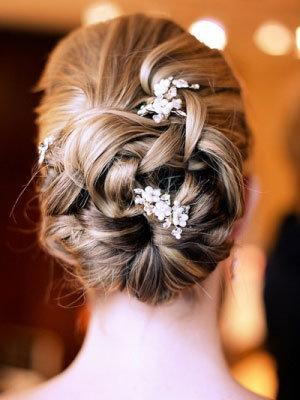 Twist Updo Wedding Hairstyle
