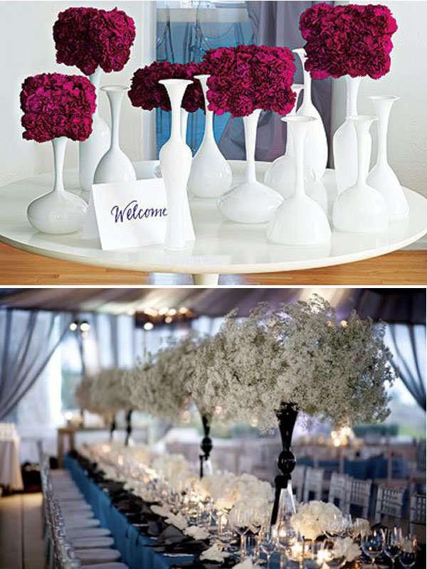 Wedding Flowers modern wedding centerpieces no flowers