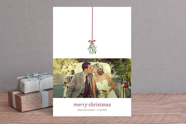 newly married holiday card from minted