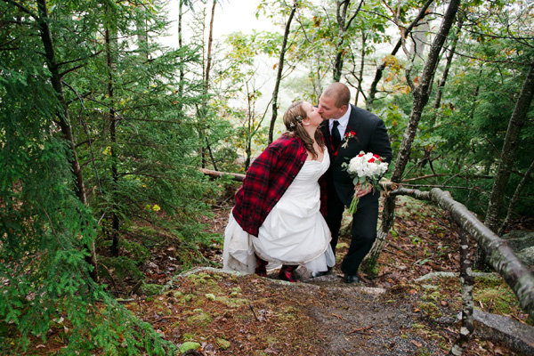 couple married in the woods