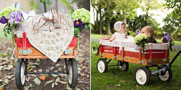 How to Entertain Kids at Weddings: 10 Easy Ideas They'll ... |Flower Girl Wagon Wedding Party