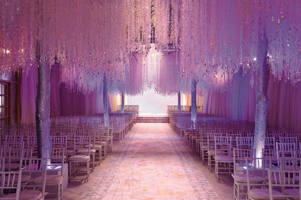 although this winter wonderland might fall into fantasy territory its still great inspiration for using lights to invoke a snowy feeling
