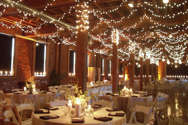 My Wedding Venue Has Wooden Beams That Line The Ceiling With Sheer Fabric Alternating In Between Each Beam Michael And I Would Love To String Lights