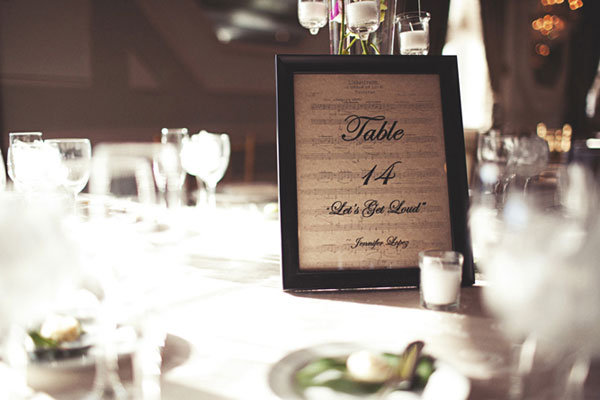 table numbers with song lyrics