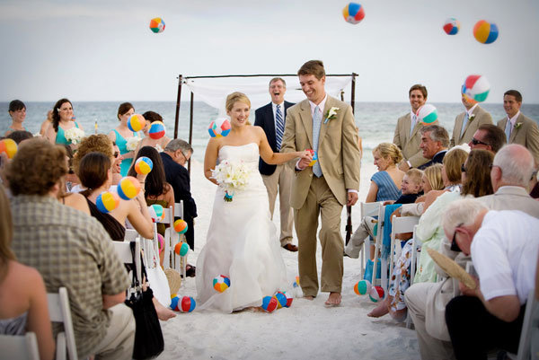 beach ball ceremony exit