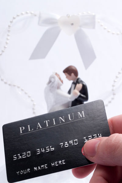 wedding and credit card