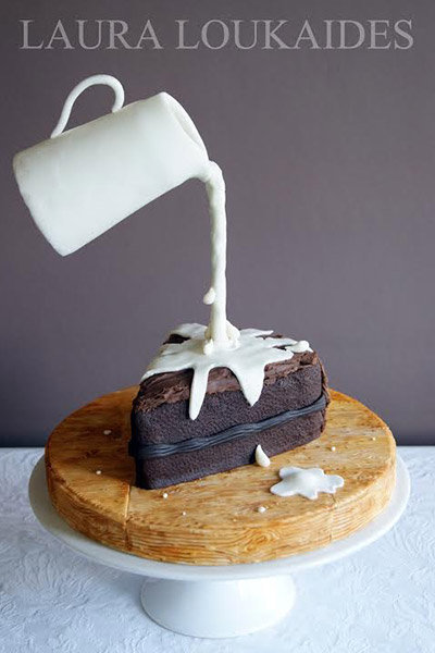 gravity defying cake
