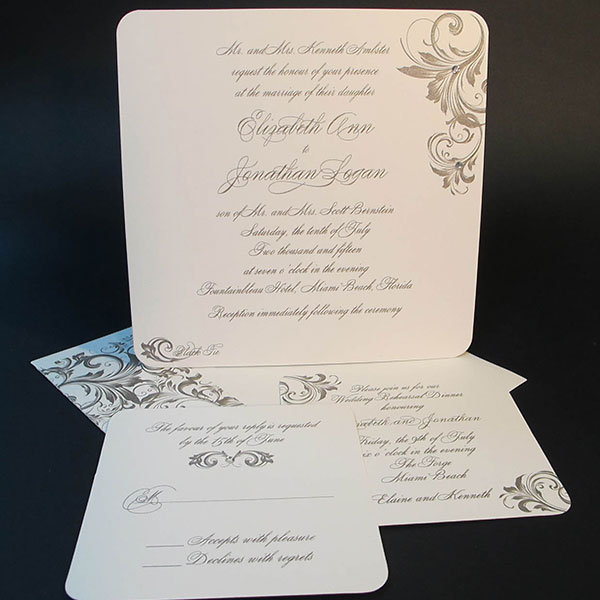 swirling in romance invitation arlene segal