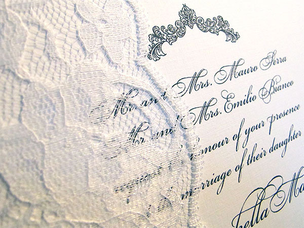 veil of romance wedding invitation arlene segal