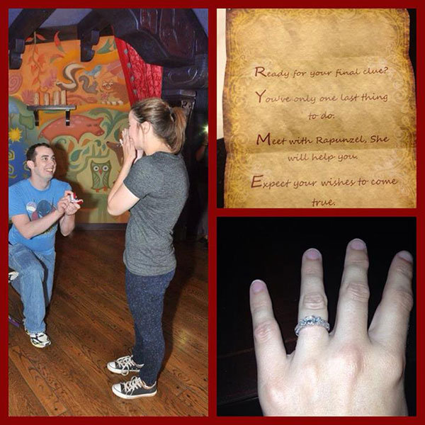 disney scavenger hunt proposal