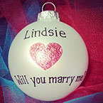 proposal ornament