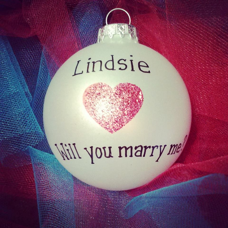 Will you marry me christmas ornament - Christmas Proposal