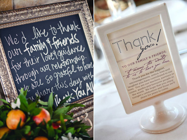 Ways to Give Thanks at Your Wedding