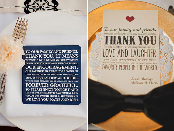 Wedding Gift Table Thank You Poem : Photo Credits (from left to right): The Youngrens and Taylor Lord ...