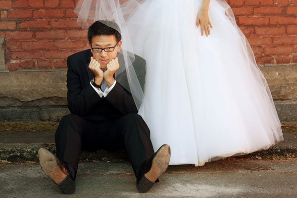 upset groom