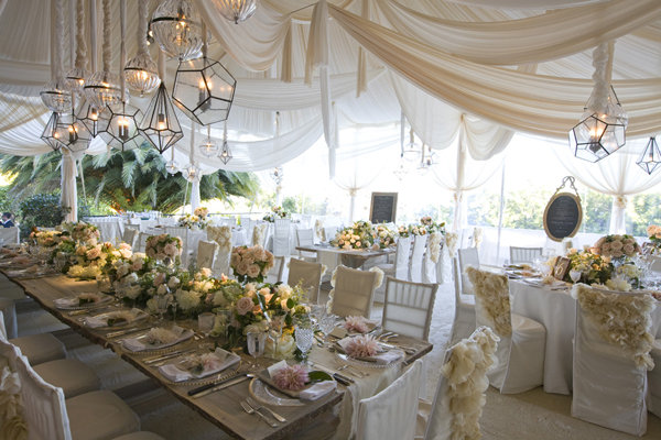 wedding tent decor