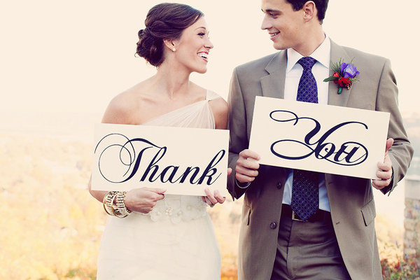 thank you after wedding