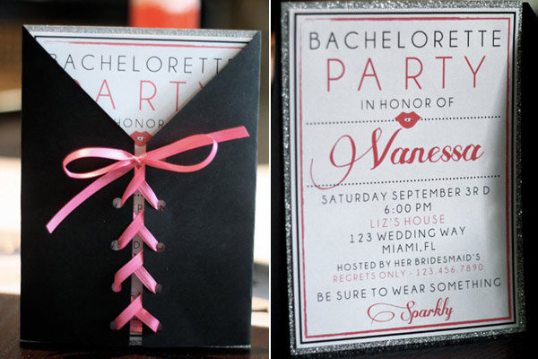 invite is one of the mostpinned bachelorette party ideas on Pinterest