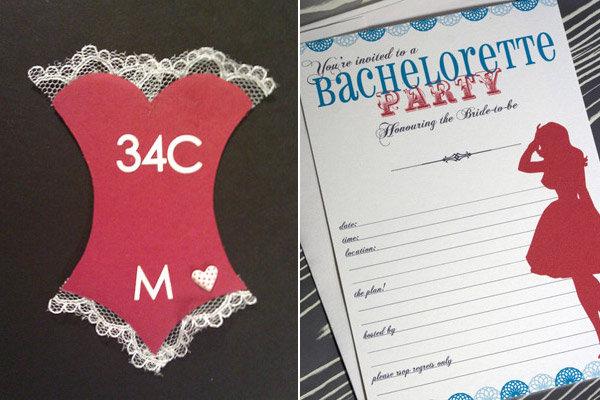 5 fun bachelorette party ideas | bridalguide, Party invitations