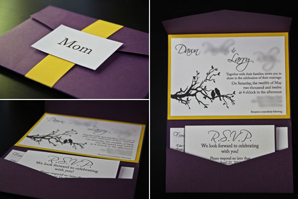 diy wedding invitations Materials Premade pocket fold cards