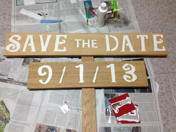 diy save the date sign