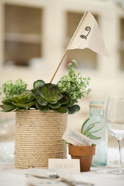 rope vase centerpiece