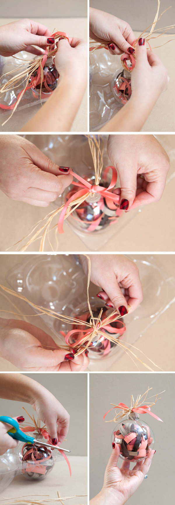 DIY We Love Wedding Invitation Ornament