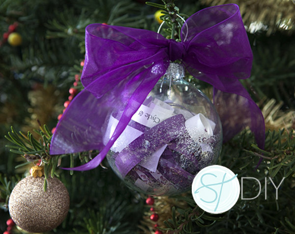 purple wedding invitation ornament