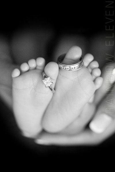 baby foot with rings