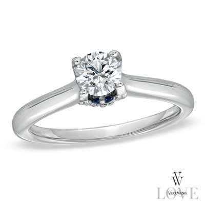 tw diamond engagement ring in 14k white gold - Vera Wang Wedding Ring