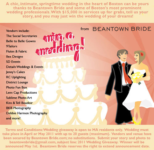 Wedding Giveaway For Boston Brides