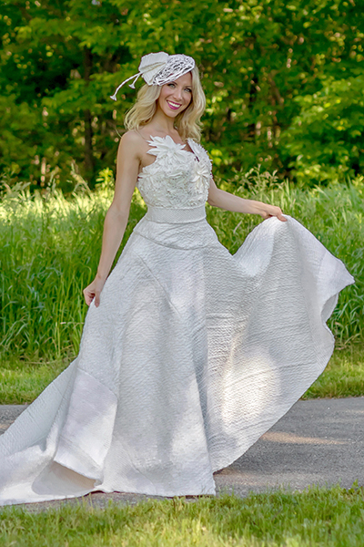toilet paper wedding dress second prize