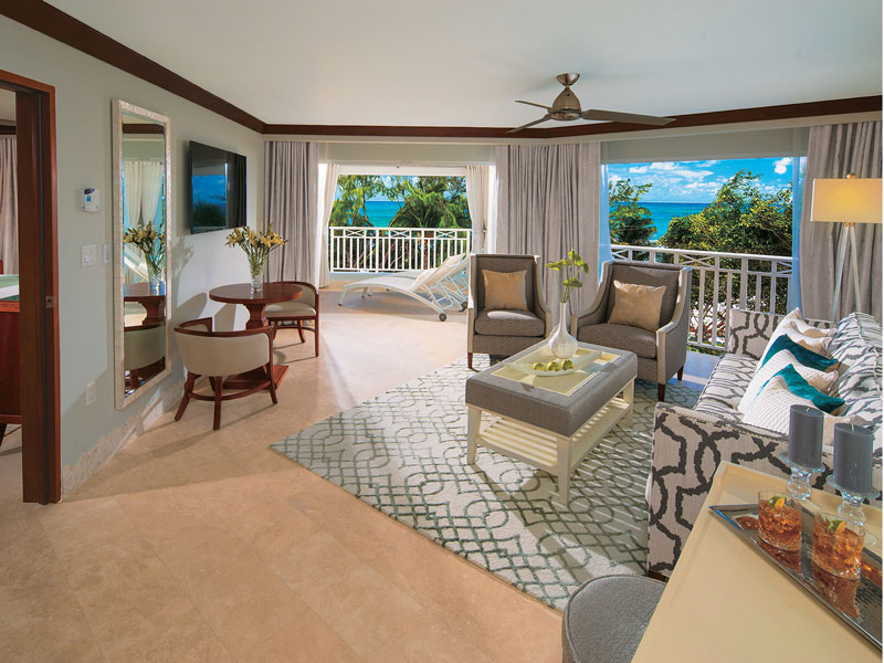 Beachfront Penthouse Butler Suite in Sandals Barbados