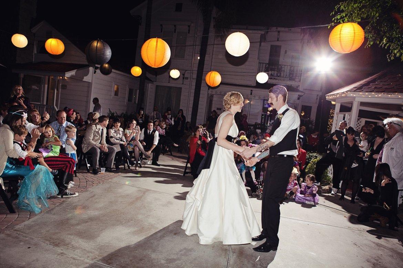 Bewitching Halloween Wedding: Kristen & David In Orange